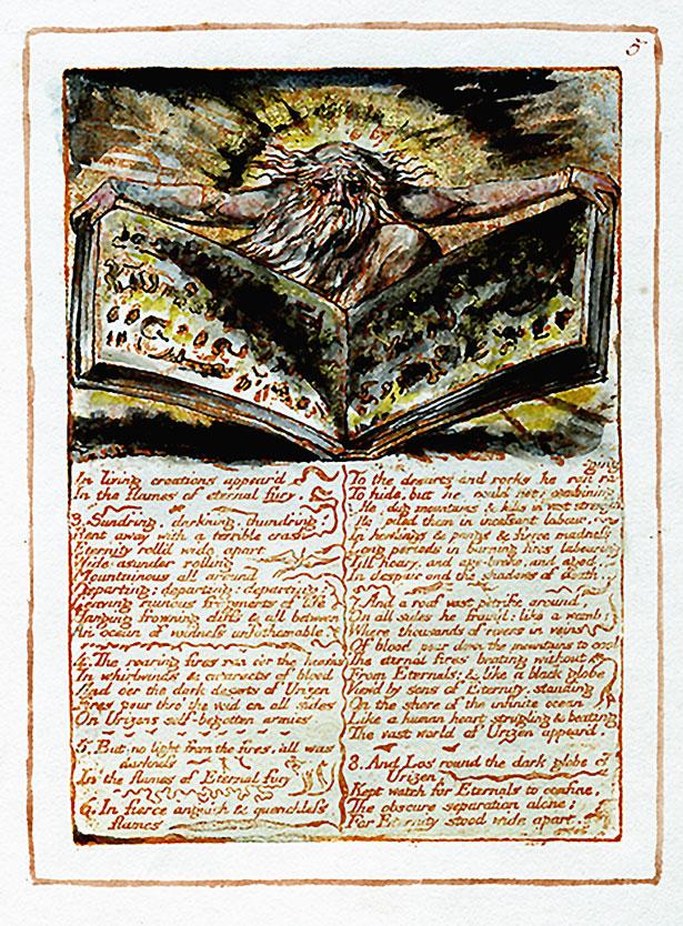 """William Blake """"First Book of Urizen"""", 1794"""
