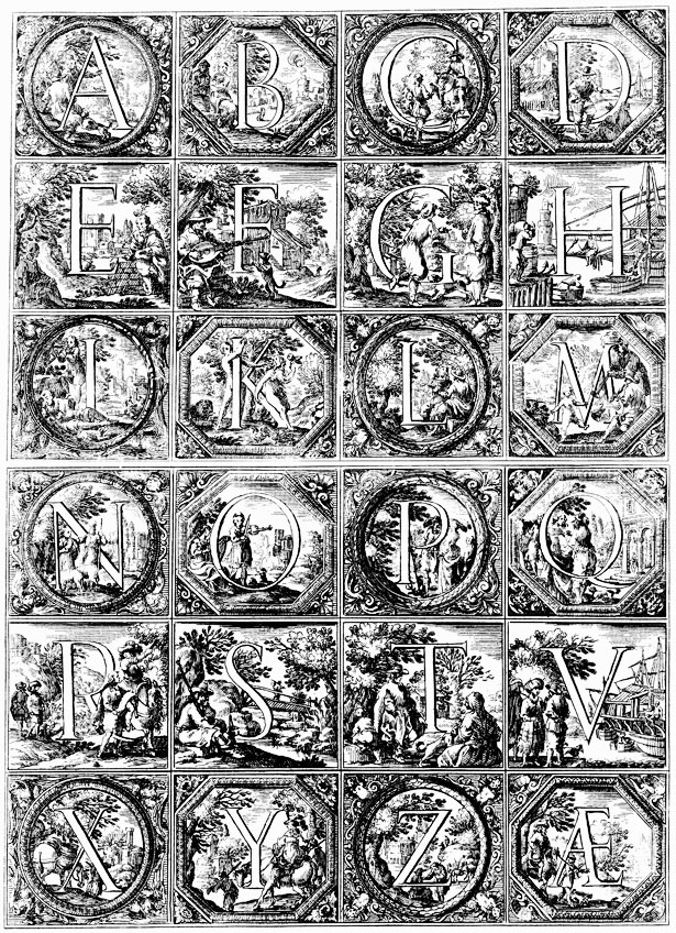 Historiated Alphabet