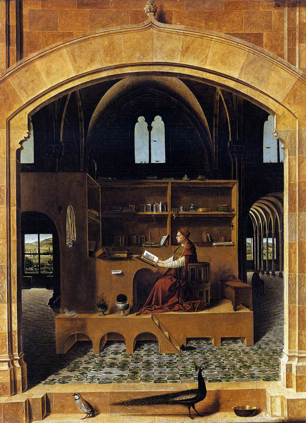 "Antonello da Messina ""St Jerome in his study"""